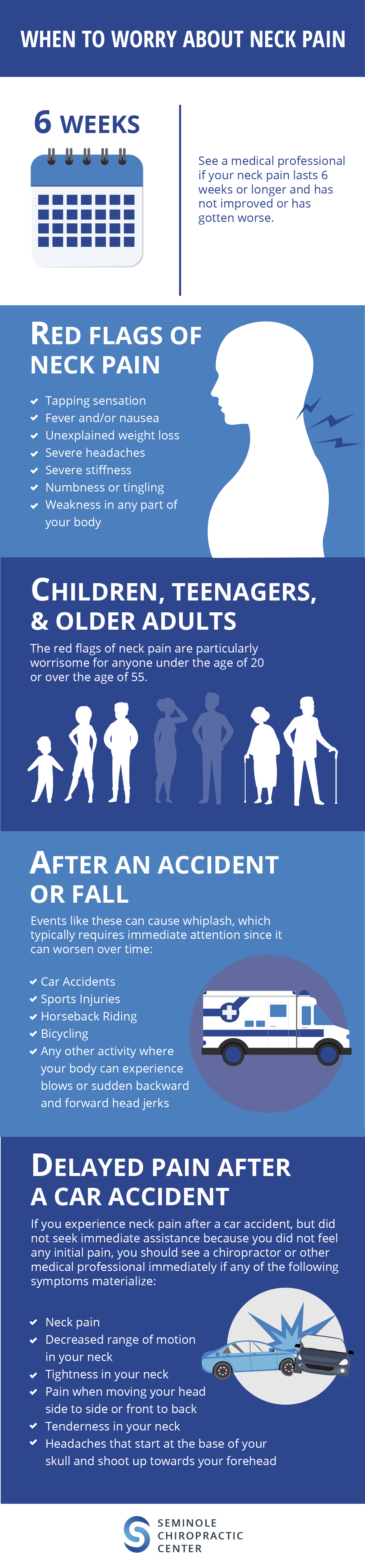 when to worry about neck pain infographic